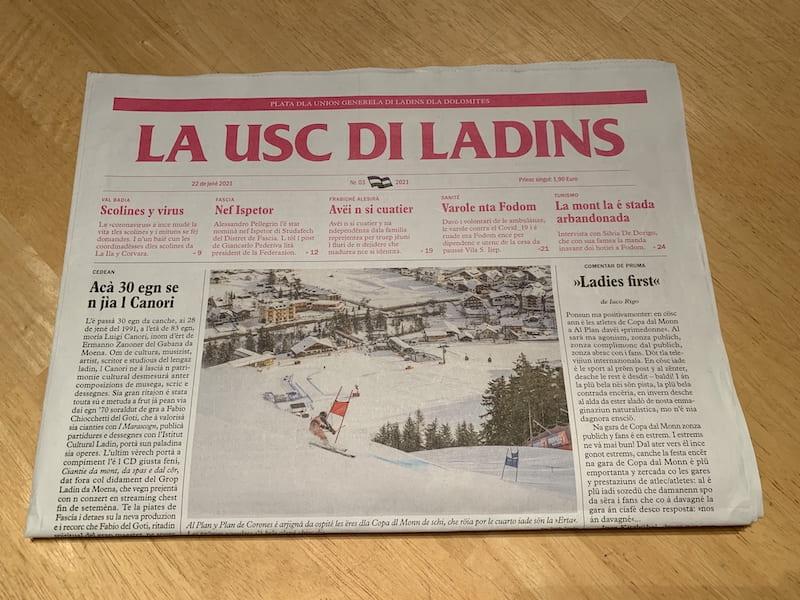 giornale la usc di ladins scritta in ladino