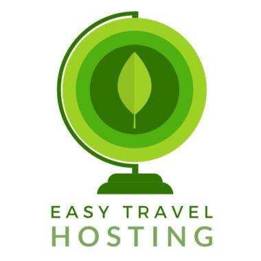 logo easytravel hosting, sito green