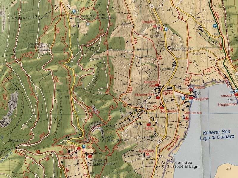 cartina escursionistica tabacco